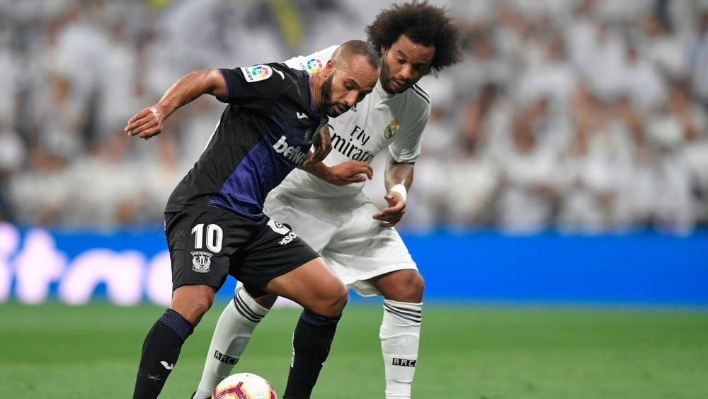 نبيل الزهر في مباراة ريال مدريد وليغانيس في الليجا