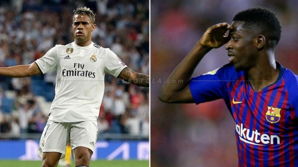 جناح برشلونة ديمبلي ومهاجم ريال مدريد ماريانو
