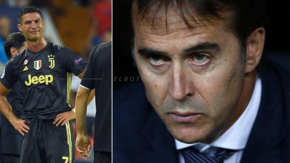 مدرب ريال مدريد لوبيتيجي والبرتغالي كريستيانو رونالدو