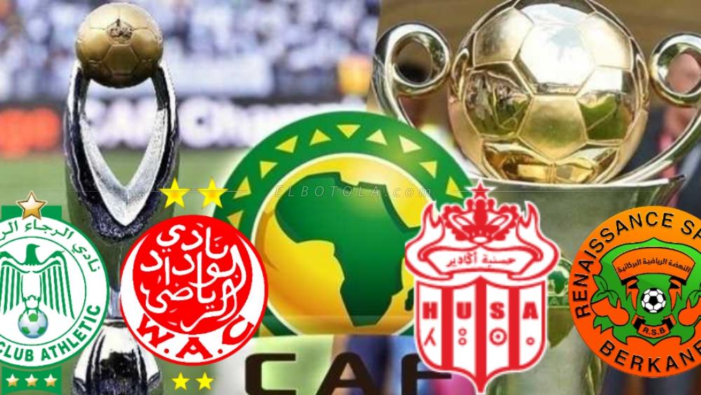 برنامج مباريات الأندية الوطنية في مسابقتي دوري أبطال أفريقيا و كأس الكونفدرالية